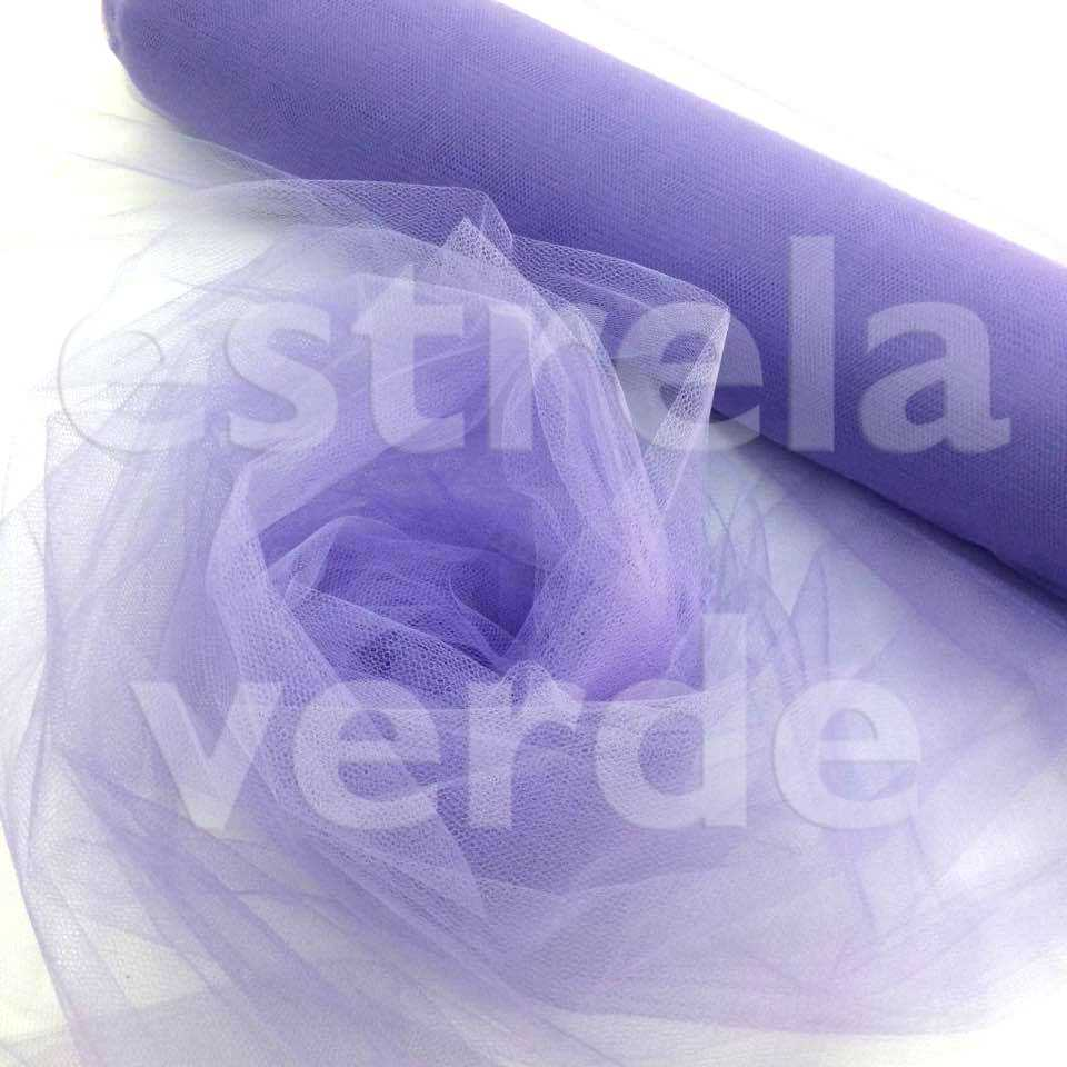 TULE PA 100% POLIAMIDA LILAS 13 1,20 LARG  - Estrela Verde
