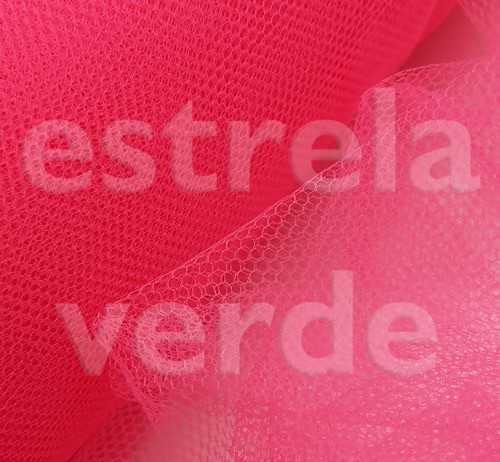 TULE PA 100% POLIAMIDA ROSA PINK 28 1,20 LARG  - Estrela Verde
