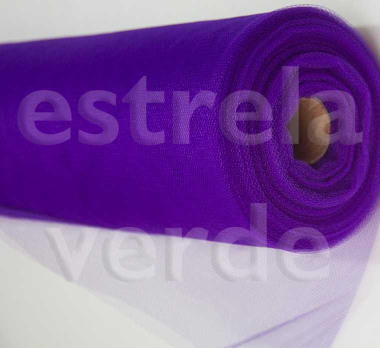 TULE PA 100% POLIAMIDA ROXO 1,20 LARG  - Estrela Verde