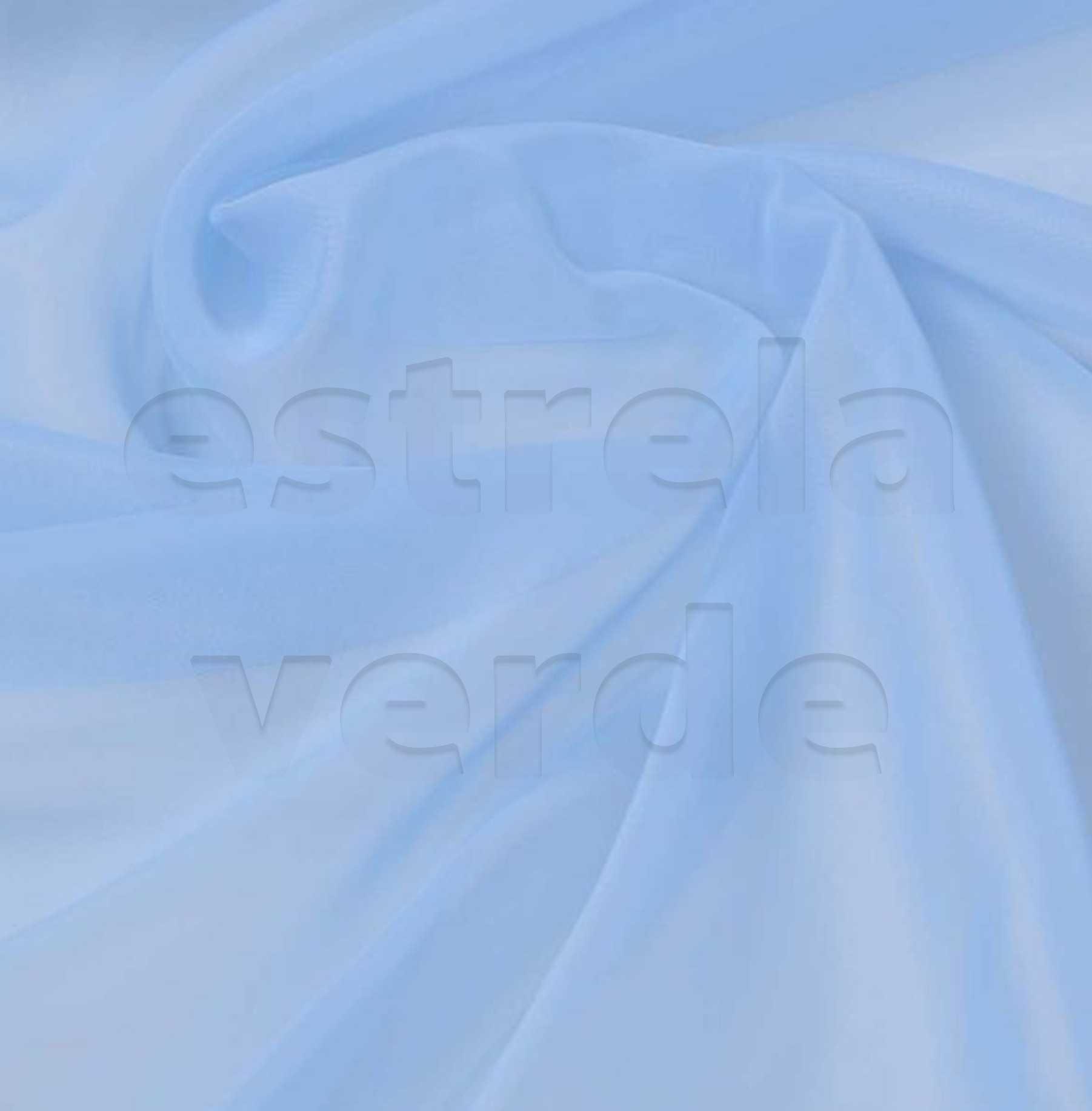 VOIL/VOAL LISO AZUL BEBE 3,00 LARG  - Estrela Verde