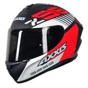 Capacete Axxis Draken Z96 Preto/ Vermelho Fosco