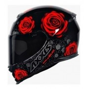 Capacete Axxis Eagle Flowers Red - Vermelho Brilhante