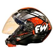 Capacete FW3 X Open Aberto Speed Preto Vermelho