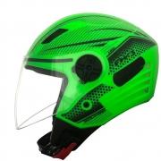 Capacete Fw3 X Open Neon Verde Aberto