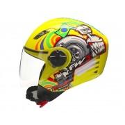 Capacete FW3 X Open Turbo Amarelo