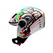 Capacete FW3 X Open Turbo Branco