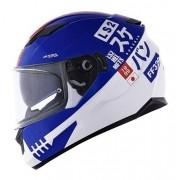 Capacete Ls2 Ff320 Sukeban - Azul/ Branco