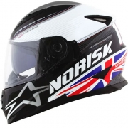 Capacete Norisk FF302 Grand Prix United Kingdom Inglaterra