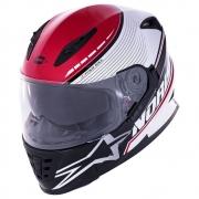 Capacete Norisk FF302 Soul Gran Prix Japan Branco Vermelho