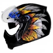 Capacete Peels Mirage Apache Viseira Solar Laranja