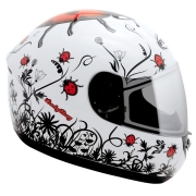 Capacete Peels Spike Ladybug Joaninha Branco