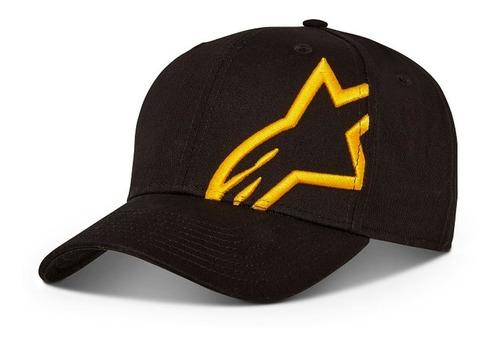 Boné Alpinestars Corp Snap 2 - Preto Amarelo Original