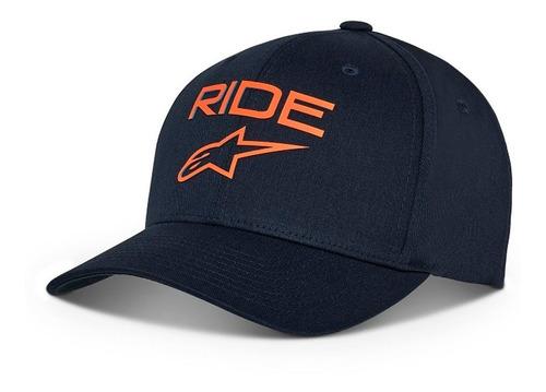 Boné Alpinestars Ride Transfer Azul Marinho laranja Original