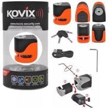 Cadeado Disco c/ Alarme Kovix KS6 - Laranja