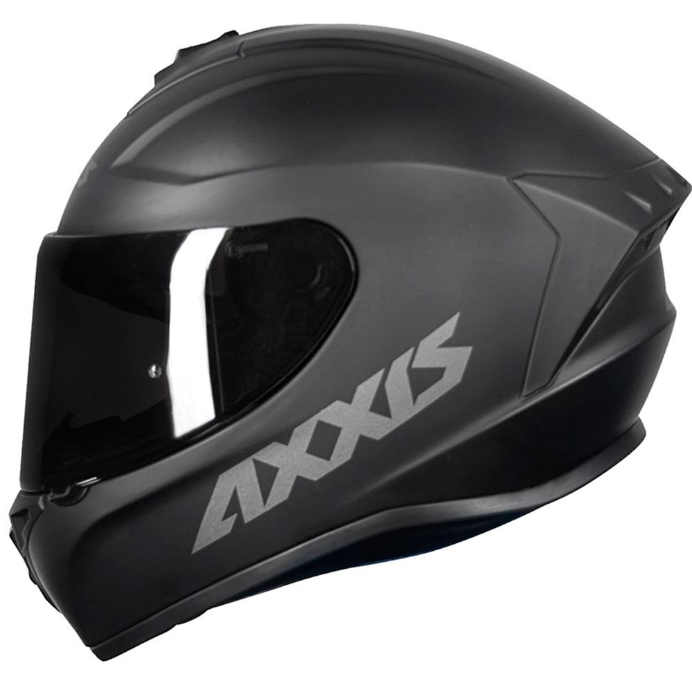 Capacete Axxis Draken Solid Mono Matt Black Preto Fosco