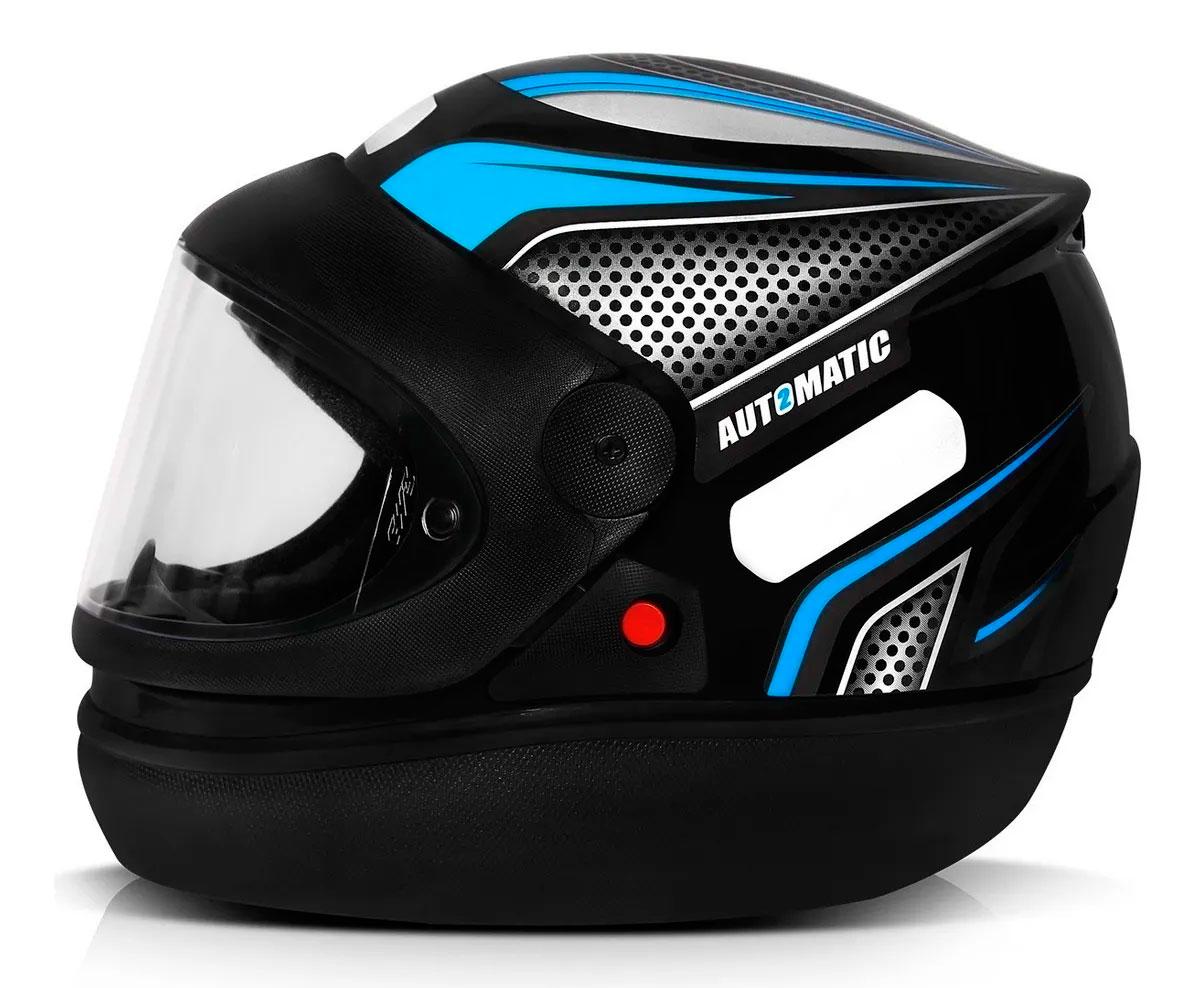 Capacete FW3 Automatic Preto Azul