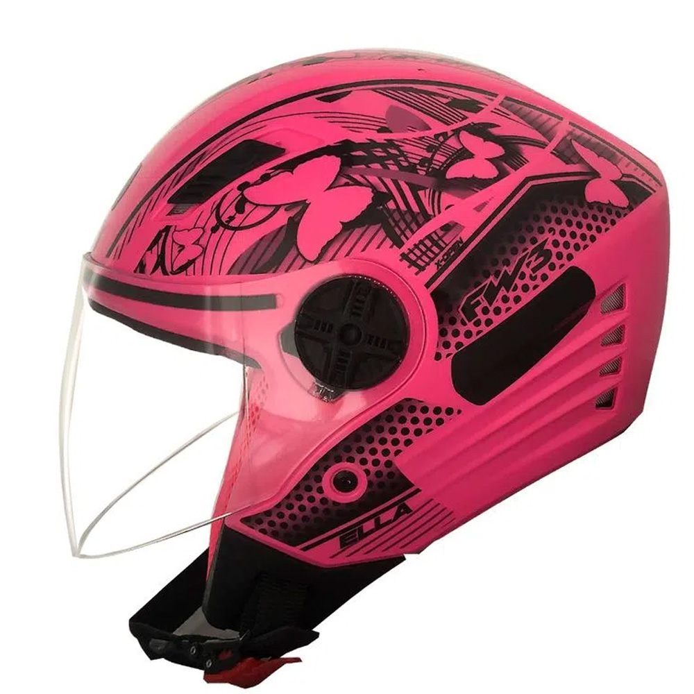 Capacete FW3 X Open Neon Rosa Aberto