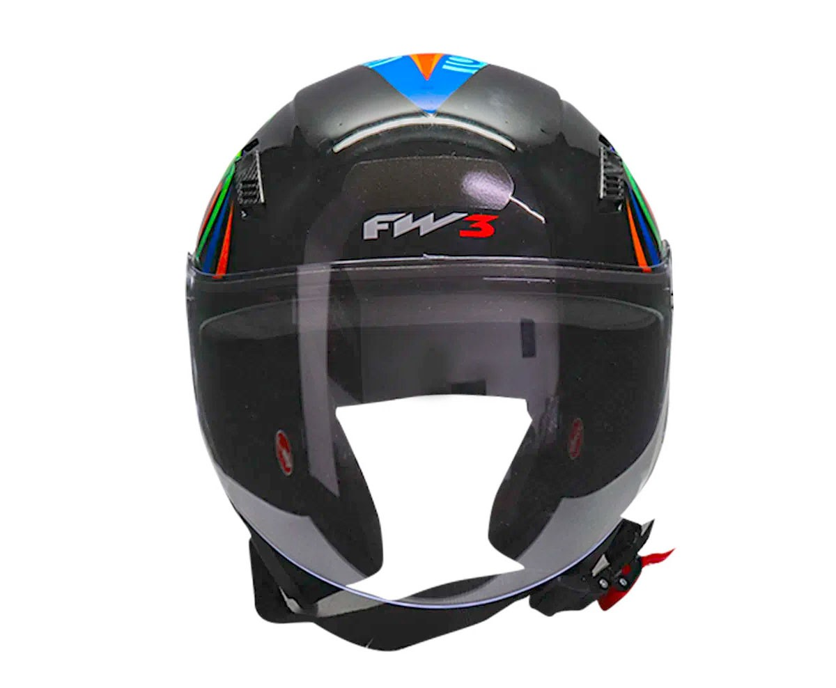 Capacete FW3 X Open Turbo Preto