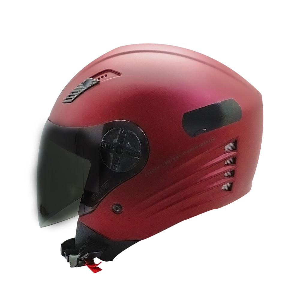 Capacete FW3 X Open Vermelho Fosco Premium