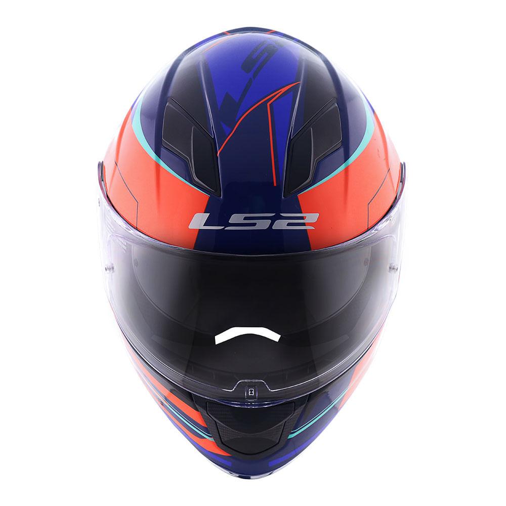 Capacete Ls2 Ff320 Stream Ixel Laranja Azul Orange