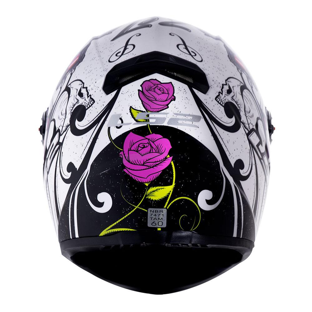 Capacete LS2 FF358 Classic Pigment Branco Rosa