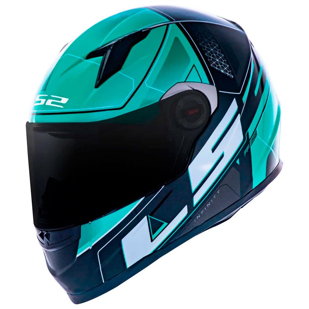 Capacete LS2 FF358 Classic Ultra Preto Verde Lançamento 2021