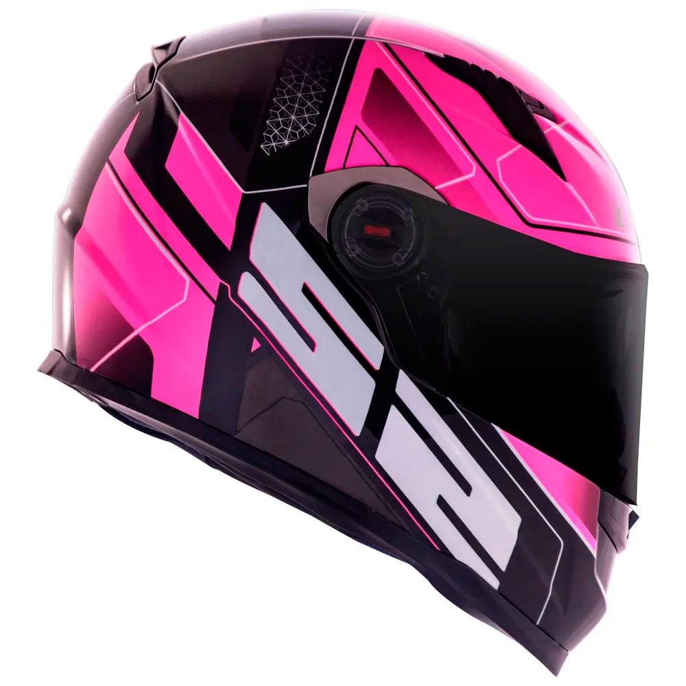Capacete LS2 FF358 Classic Ultra Rosa Pink