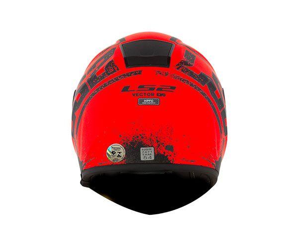 Capacete LS2 FF397 Vector Squash Laranja Fosco c/ viseira solar