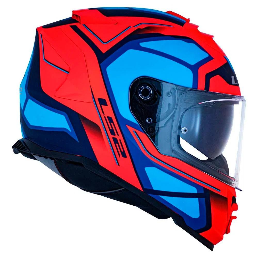 Capacete LS2 FF800 Storm Faster Laranja Fluor Azul