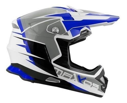 Capacete Motocross Mattos Racing Mx Pro Mttr  Azul