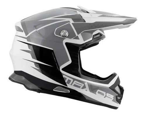 Capacete Motocross Mattos Racing Mx Pro Mttr Cinza