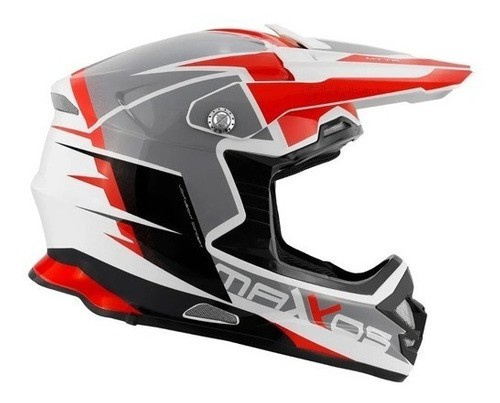 Capacete Motocross Mattos Racing Mx Pro Mttr - Vermelho