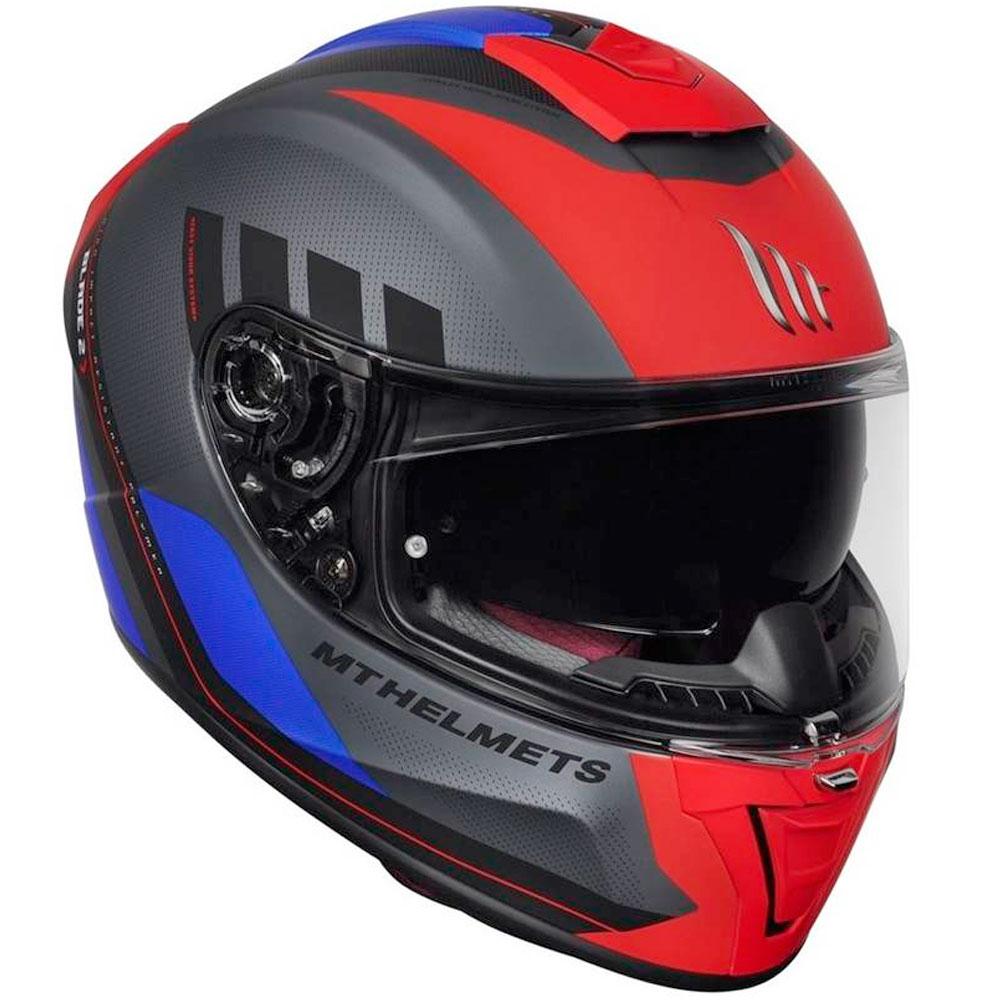 Capacete Mt Blade SV Plus Matt Vermelho Fosco c/ Viseira Solar