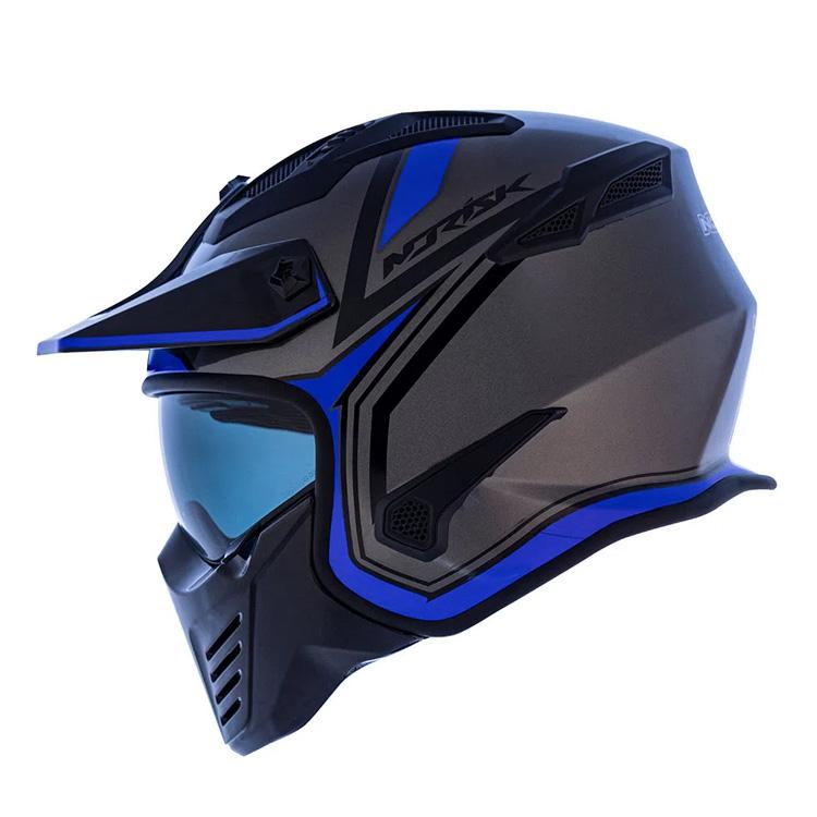 Capacete Norisk Darth Outline Titanium/ Azul