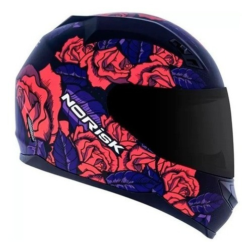Capacete Norisk Ff391 Stunt Bed Of Roses Pink Fosco