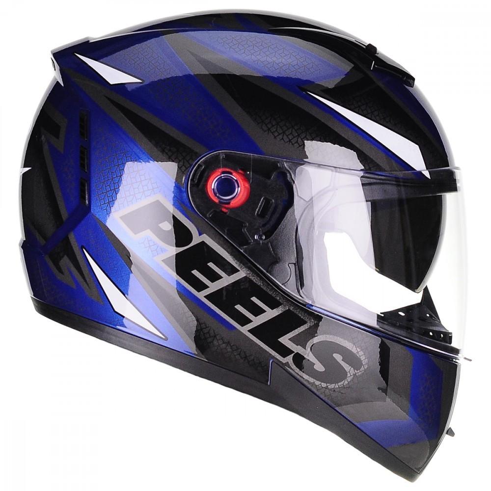 Capacete Peels Icon Fast Azul Metálico c/ viseira solar