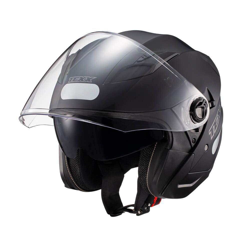 Capacete Texx Ugello 2 Solid Preto Fosco c/ óculos interno