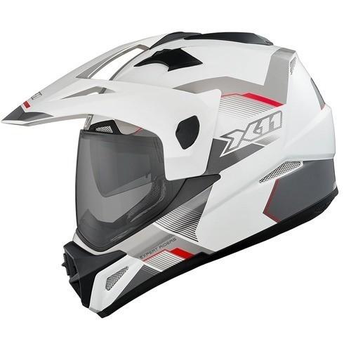 Capacete X11 Crossover X3 SV Com Óculos Interno Branco
