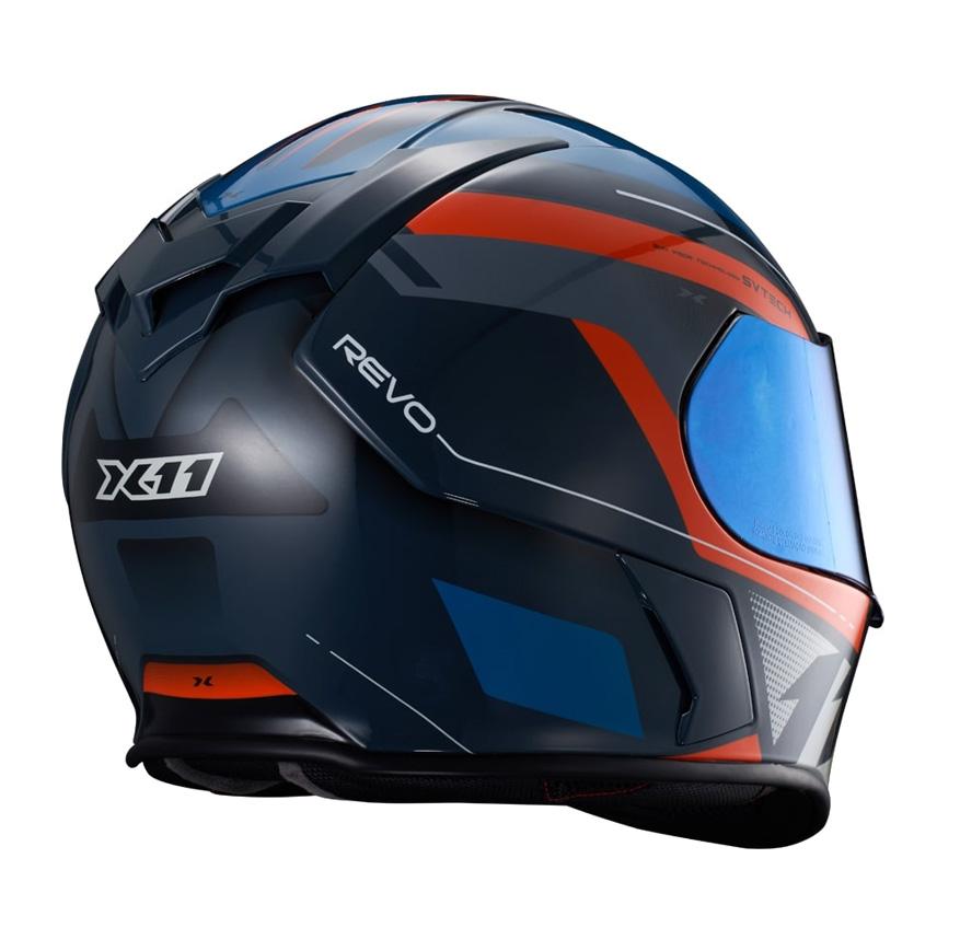 Capacete X11 Revo Pro Eleven Azul/ Laranja