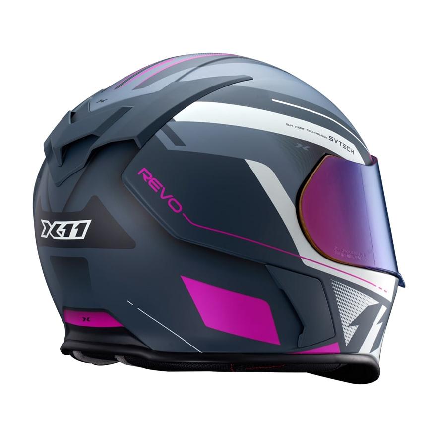 Capacete X11 Revo Pro Eleven Rosa/ Cinza fosco