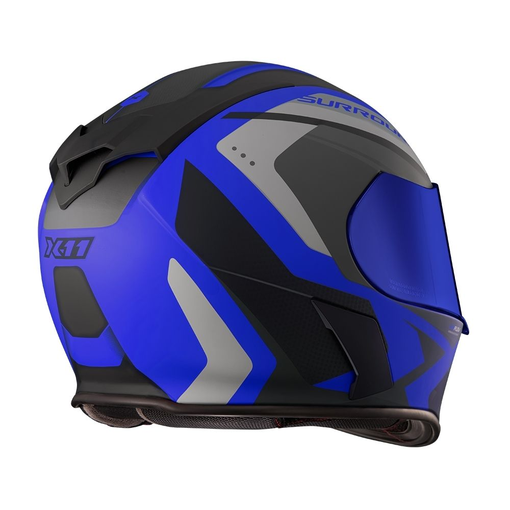 Capacete X11 Revo Pro Surround Azul c/ viseira interna