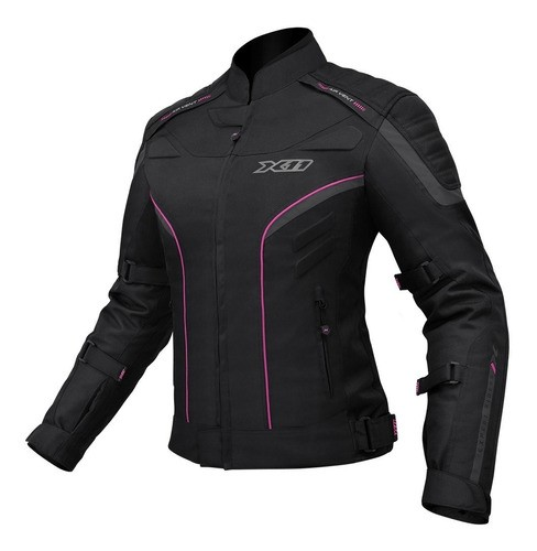 Jaqueta X11 Iron 2 Impermeavel Proteção Moto Feminina Rosa