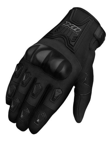 Luva X11 Blackout Feminina Moto Motoqueiro Proteção Preto