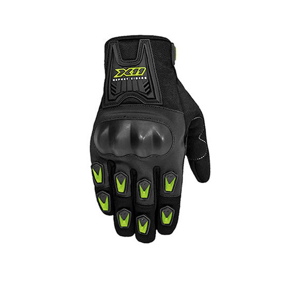 Luva X11 Blackout Moto Proteção Verde
