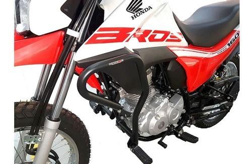 Protetor De Motor E Carenagem Coyote Bros 160 Preto C/ Pedal