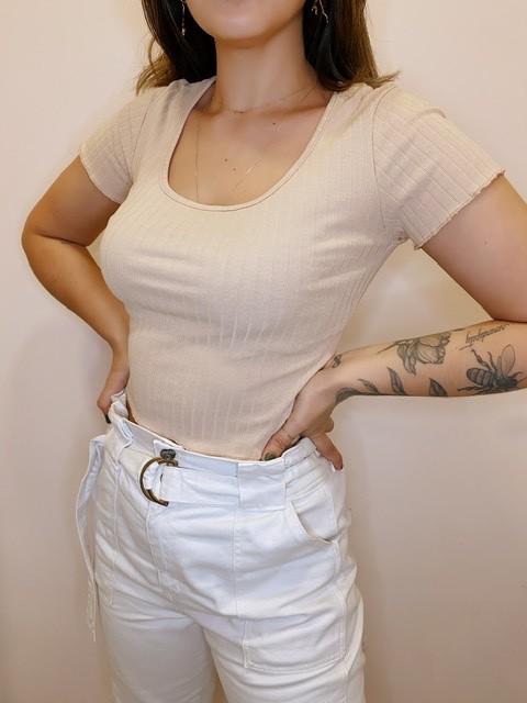 Blusa Cropped Canelada | Beth
