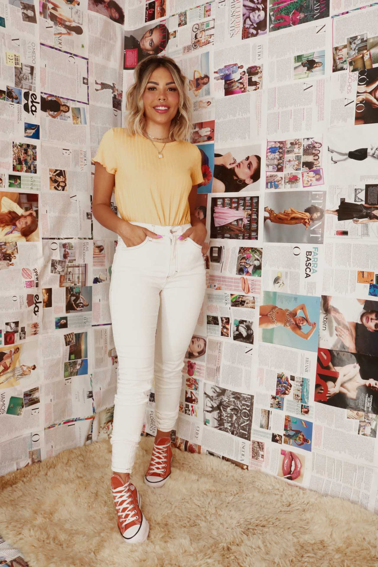 Calça Skinny | Off White