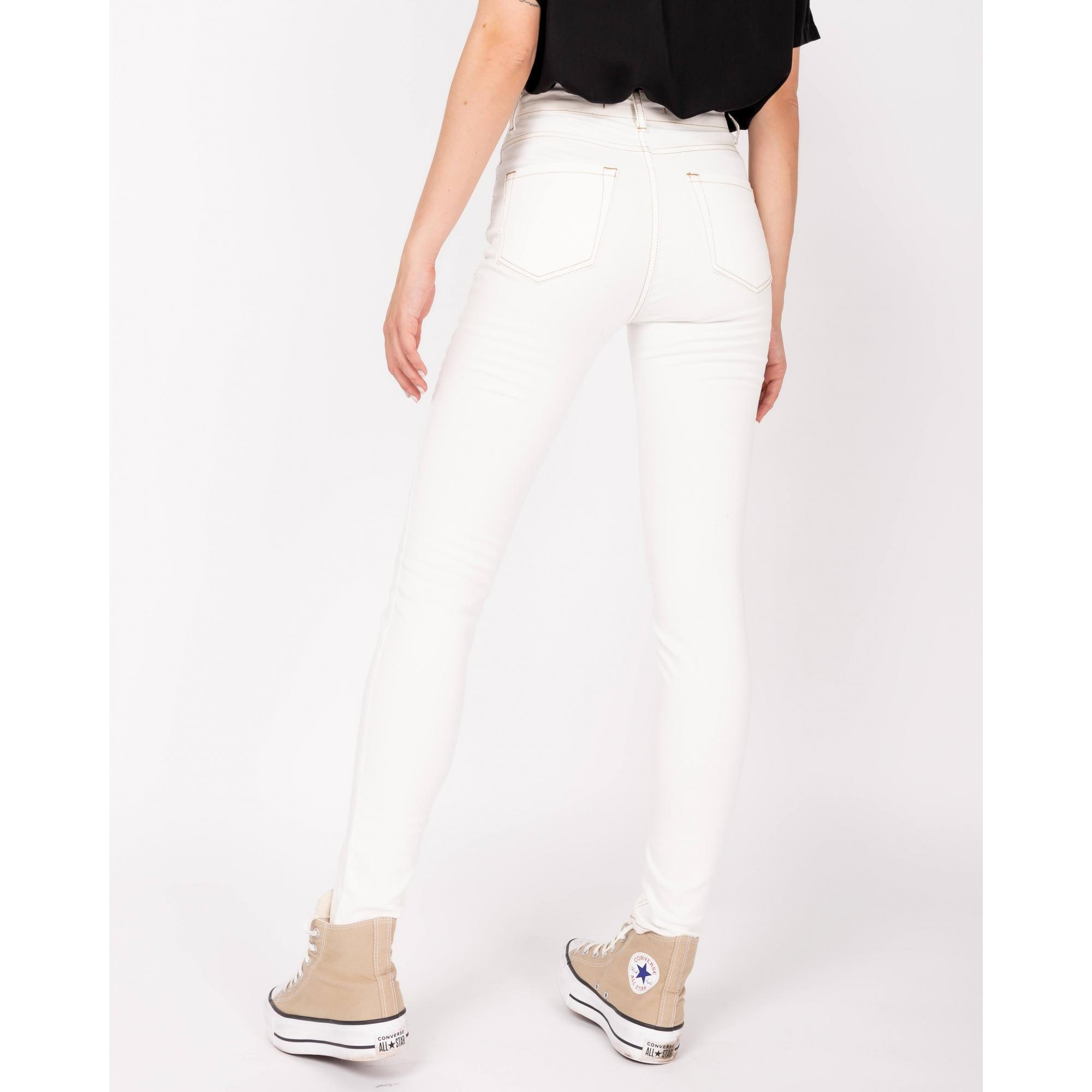 Calça Skinny   Off White