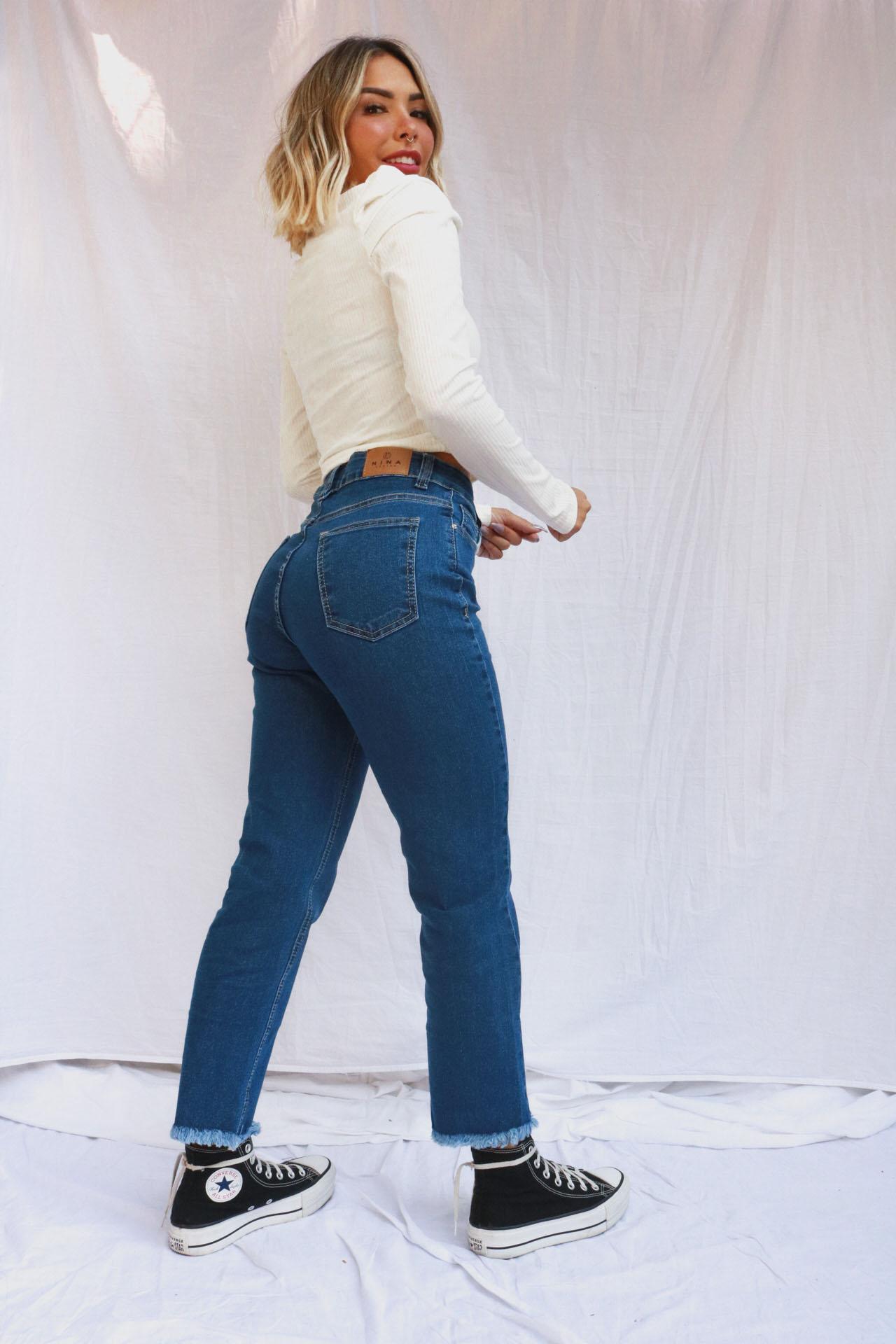 Jeans Reta Anne | Escura