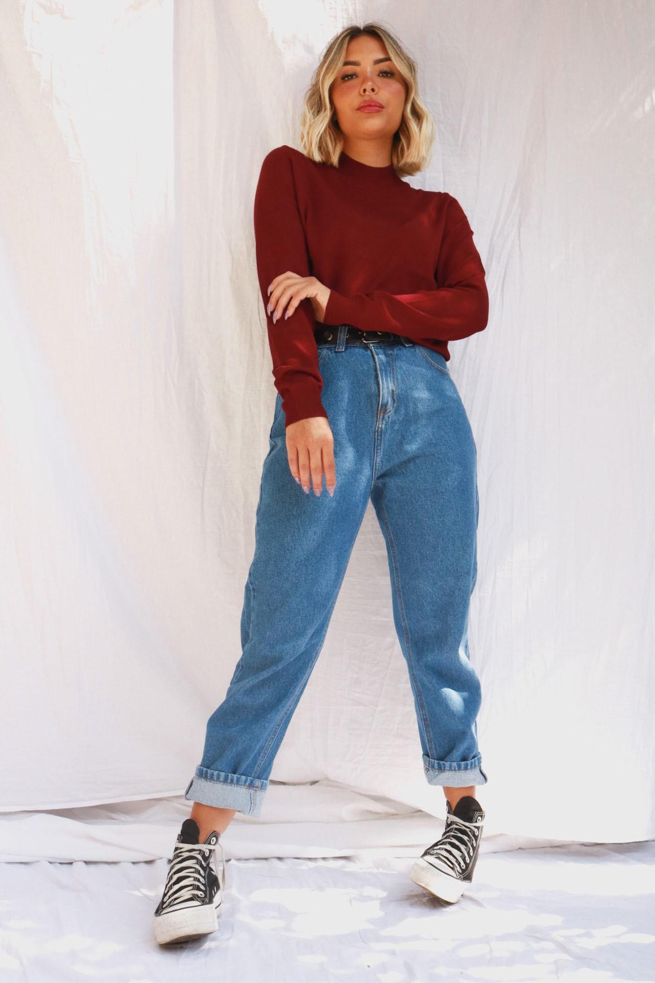 Mom Jeans Julia | Lavagem Escura